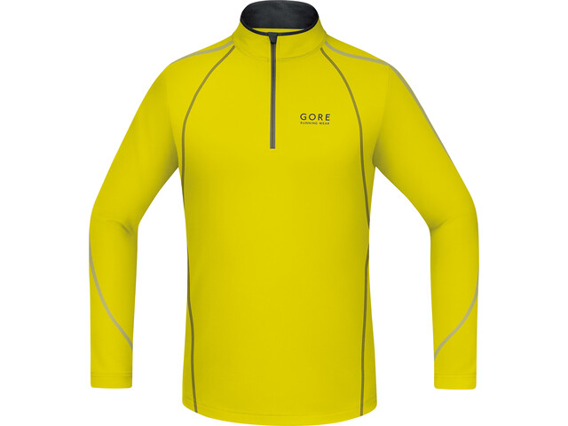 GORE RUNNING WEAR ESSENTIAL Zip Shirt long Men sulphur/ivy green
